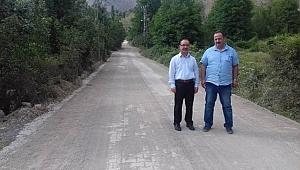 Ilgaz'da 9 köy yoluna kilitli parke döşendi