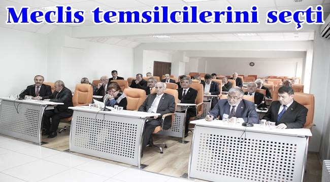 Meclis temsilcilerini seçti