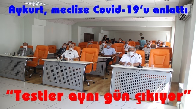 Aykurt, meclise Covid-19'u anlattı