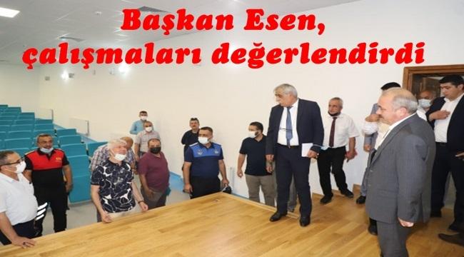 Başkan Esen, çalışmaları değerlendirdi